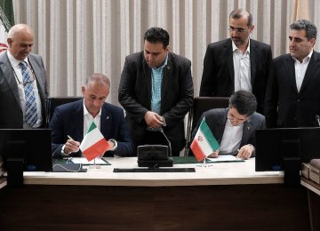 Iran, Italy Sign High-Speed Rail Deal