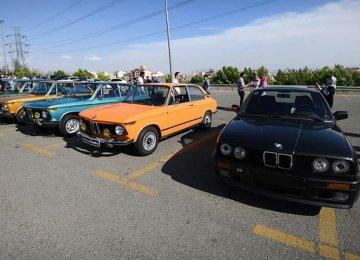 Vintage Cars Displayed at Milad Tower