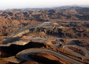 Iran's Sangan iron ore mine is located in Khaf County in Khorasan Razavi Province, about 300 kilometers southeast of Mashhad.