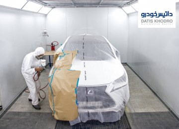 Datis Khodro's A-Class Painting Booth for Repairing Volvo Cars in Tehran