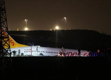 Landing Turkish Airliner Shatters Into 3 Pieces  - Photo: Anadulu