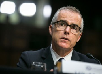 Ex-FBI Deputy Mccabe, Trump Target, Fired Days Before Retirement