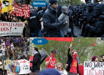 May Day Rallies Worldwide Turn Violent
