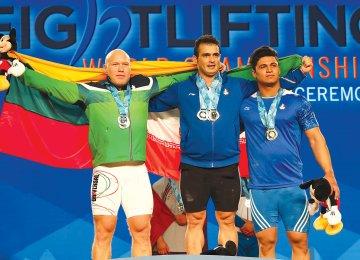 From right: Seyyed Ayoub Mousavi, Sohrab Moradi and Aurimas Didzbalis