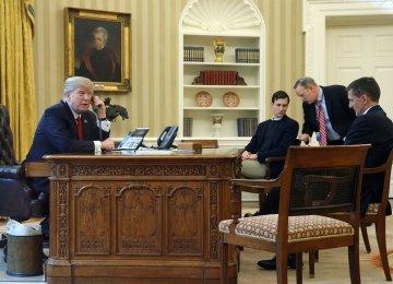"Trump Backs ""Rigorous"" Enforcement of Nuclear Accord  (Photo: AP)"