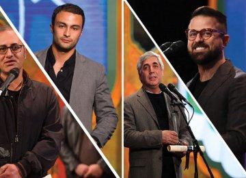 Clockwise from top left: Sara Bahrami, Peyman Moaadi, Bahram Tavakoli, Amir Jadidi, Kambuzia Partovi, Sahar Dolatshahi, Houman Seyedi and Ebrahim Hatamikia