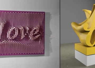 'White Love'  (L) and 'Yellow Joy' by Ramin Shirdel