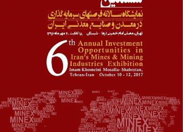 Tehran to Host Minex 2017 in October