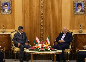 Omani FM Holds Talks in Tehran