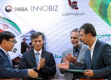 Iranian, South Korean SMEs Sign 10 MoUs for Tech Transfer