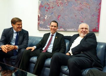 Zarif in Venezuela to Attend NAM Confab