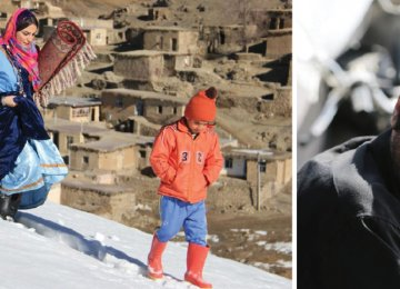 Navid Mohammadzadeh in 'No Date, No Signature' (R) and a screenshot from 'The Skier'
