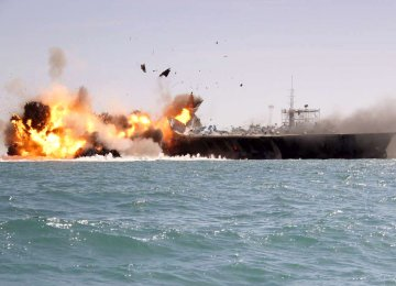 IRGC in Major Naval Drills