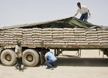 Cement Export Down