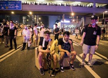 HK Leader Urges End to Protests