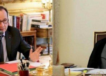 Rouhani,  Hollande Talk on Phone