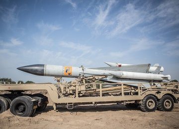High-Altitude Missile Test-Fired in Wargame