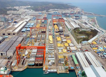 In 2008, IRISL placed an order for 17 vessels with Hyundai and paid around $227 million, but due to the nuclear sanctions, the money was locked up in South Korean banks and the vessels were never built.