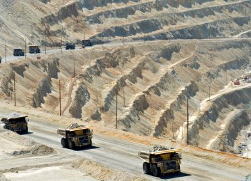 Iron ore is one of the Iranian mining sector's main exported commodities.