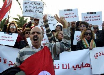 Protests in Tunisia Over Return of Militants