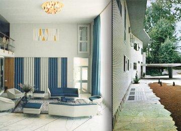 The original interior (L) and exterior of Villa Namazee (Photo: Hamed Khosravi/Tehran Projects)