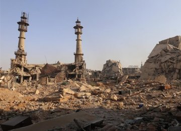 The so-called Muslim militants destroyed this mosque in Darayya, Syria.
