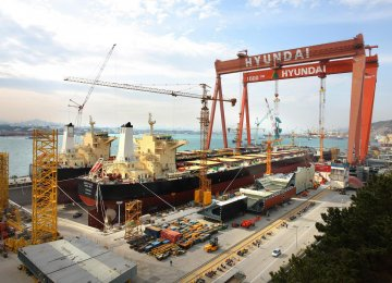 Hyundai Heavy Industries Co. is the world's largest shipbuilding company headquartered in Ulsan, South Korea.