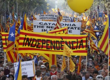 According to recent polls, around 48% of Catalans support secession, though that number is down a few percentage points from a few years ago.