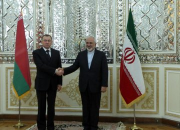 FM, Belarusian Counterpart Discuss Ties