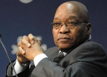 S. Africa's Zuma Visiting Tehran