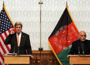 US Struggling to Ease Crisis Over Afghanistan Unity Pact