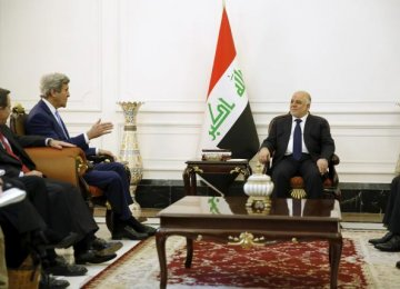 Kerry Visits Iraq to Show  Support for Embattled Abadi