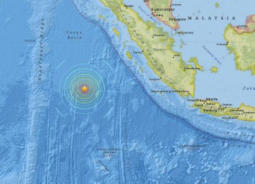 Magnitude 7.8 Quake Off Indonesia