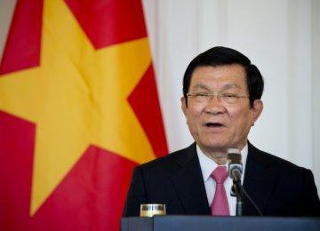 Vietnam President  Due in Iran