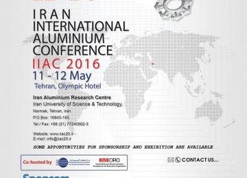 Tehran to Host Int'l Aluminum Confab
