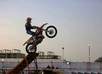 Motorcycle Stunt Riding in Kish