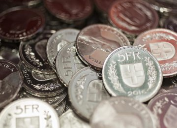 Forgeries of Swiss 5-Franc Coins Surge
