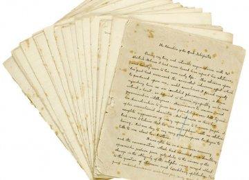 Handwritten Sherlock Holmes Mysteries on Sale