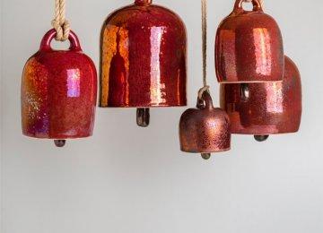 Ceramic Sculptures in Metallic Colors
