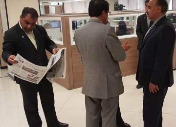 Soltanifar Visits Financial Tribune
