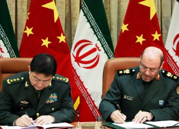 Iran, China Sign Defense Deal