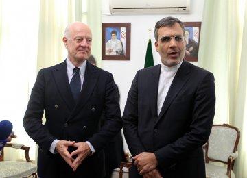 UN Envoy in Tehran to Discuss Syria