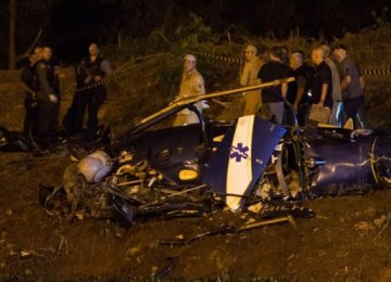 Gang Shoots Down Brazil Police Helicopter