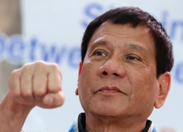 Philippines' Duterte Breaks Vow to Stop Cursing Others