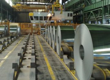 New Galvalume Steel Production Line Opens in Iran