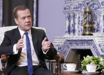 Medvedev Sees Growth in 'Several Directions'