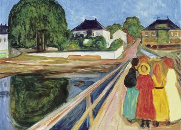 Detail of 'Girls on the Bridge' by Edvard Munch