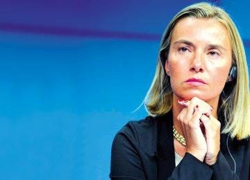 EU foreign policy chief, Federica Mogherini