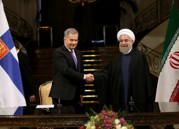 Tehran, Helsinki Agree to Boost Cooperation