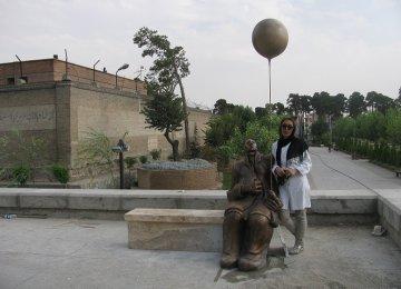 Bahaedinzadeh and her 'Maneli' at Qasr Museum Garden
